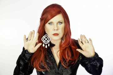 The B-52's KATE PIERSON has made her arrival