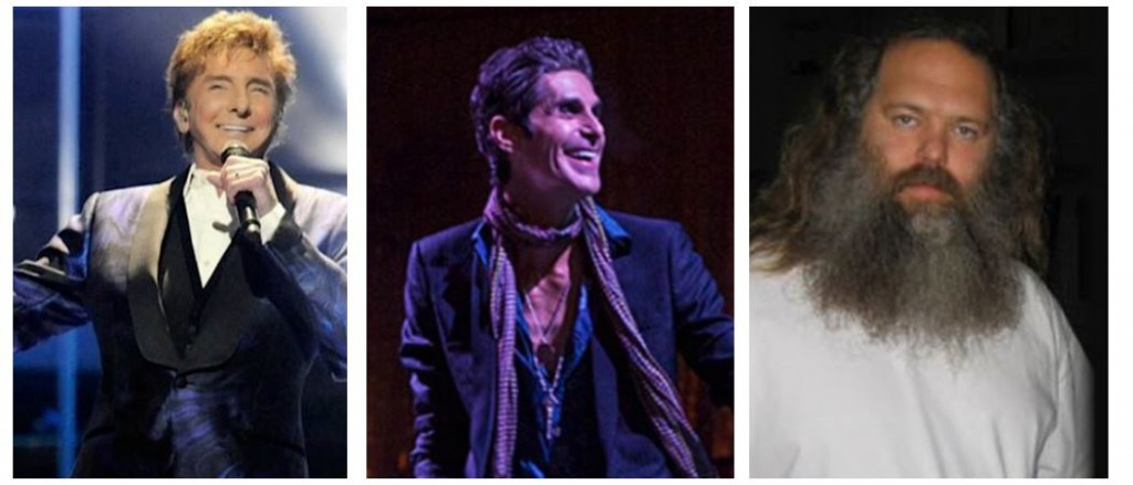 Barry Manilow, Perry Farrell and Rick Rubin