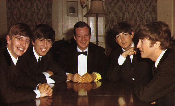 Brian-Epstein-with the Beatles
