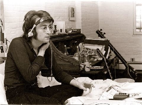 John Lennon in the studio