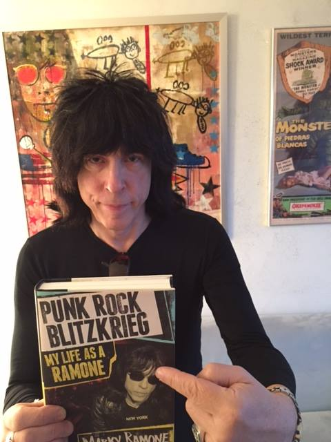 marky ramone with book