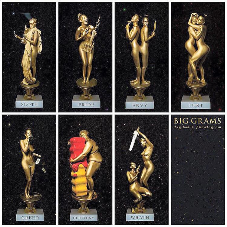 big grams nude statues