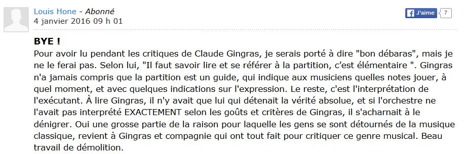 claude gingras commentaire 1 bon debarras