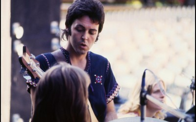 paul in Juan-les-Pins, France on Wings' first European tour
