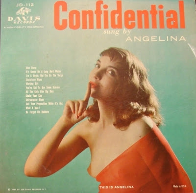 sexy record sleeve Angelina Confidential nip slip 2013