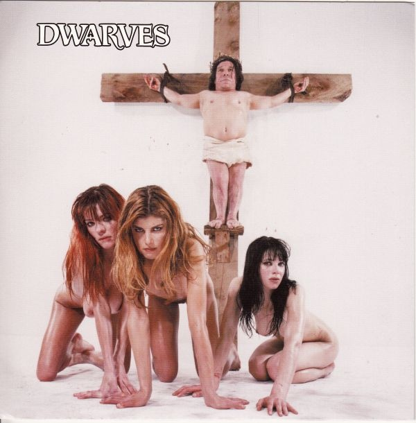 sexy record sleeve the dwarves nude crucifix