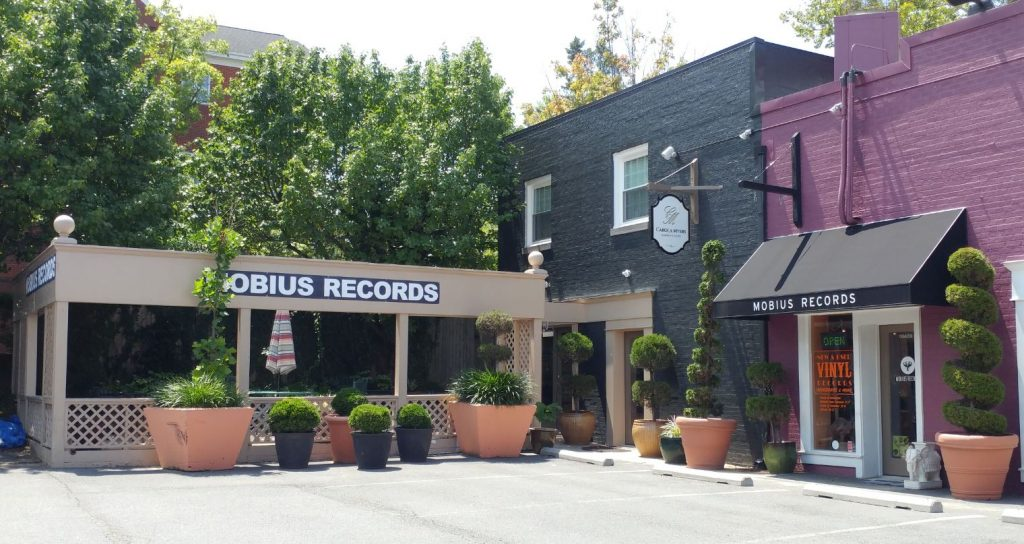 mobius records outside